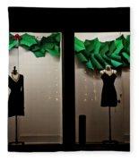 Holiday Window Fashion Fleece Blanket