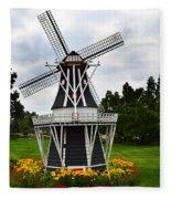 Holland Grey Windmill  Fleece Blanket