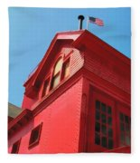 Holland Harbor Light From The Bottom Up Fleece Blanket