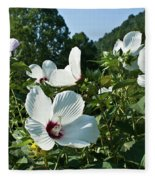 Hollyhock At Sunrise Fleece Blanket