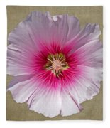 Hollyhock On Linen 2 Fleece Blanket