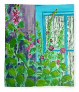 Hollyhock Surprise Fleece Blanket
