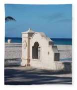 Hollywood Beach Wall In Color Fleece Blanket