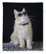 Hollywood Cat Fleece Blanket