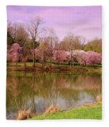 Holmdel Park In Spring Fleece Blanket