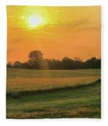 Holmes County Sunrise Fleece Blanket