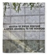 Holocaust Museum Of Jewish Heritage Ny Fleece Blanket
