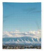 Holston Mountain Over Bristol Va/tn Fleece Blanket