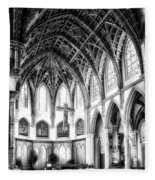 Holy Name Cathedral Chicago Bw 03 Fleece Blanket