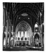 Holy Name Cathedral Chicago Bw 04 Fleece Blanket