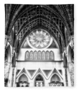 Holy Name Cathedral Chicago Bw 06 Fleece Blanket
