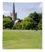 Holy Trinity Church At Stratford Upon Avon Fleece Blanket