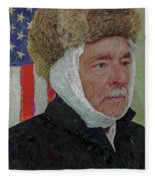 Homage To Van Gogh Selfie Fleece Blanket