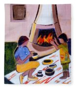 Home And Hearth In Taos Fleece Blanket