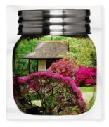 Home Flower Garden In A Glass Jar Art Fleece Blanket