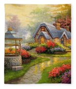 Home Is Where You Find Real Love Fleece Blanket