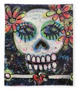 Home Is Wherever I Am With You An Abstract Skull Painting About Love Fleece Blanket