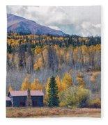 Home On The Gore Range Fleece Blanket