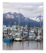 Homer Harbor Fleece Blanket