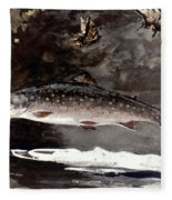 Homer: Trout, 1889 Fleece Blanket