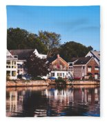 Homes On Kennebunkport Harbor Fleece Blanket