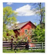 Homestead At Old World Wisconsin Fleece Blanket