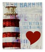 Hometown Bahamas Lighthouse Fleece Blanket