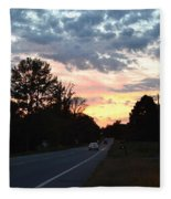 Homeward Bound Evening Sky Fleece Blanket