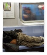 Homeless In Motion Fleece Blanket