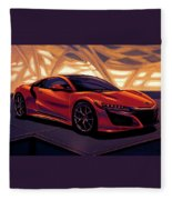 Honda Acura Nsx 2016 Mixed Media Fleece Blanket