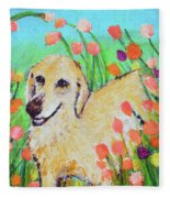 Honey In The Flower Fields Fleece Blanket