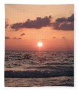 Honey Moon Island Sunset Fleece Blanket