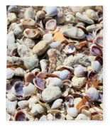 Honeymoon Island Shells Fleece Blanket