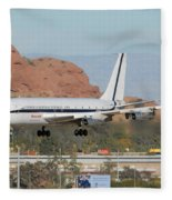 Honeywell Boeing 720 N720h Phoenix December 27 2007 Fleece Blanket