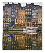 Honfleur France Fleece Blanket