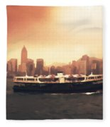Hong Kong Harbour 01 Fleece Blanket