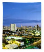 Honolulu City Lights Fleece Blanket