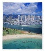 Honolulu, Oahu Fleece Blanket