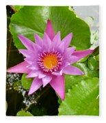 Honolulu Water Lily Fleece Blanket