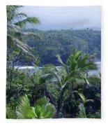 Honomaele Near Mokulehua At Hale O Piilani Heiau Hana Maui Hawaii Fleece Blanket