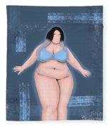 Honor My Curves Fleece Blanket