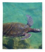 Honu Gliding Along Fleece Blanket