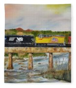 Hooch - Chattahoochee River - Columbus Ga Fleece Blanket