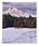 Hood On Ice Fleece Blanket