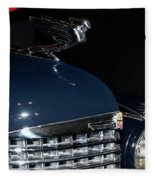 Hood Ornament-1938 Cadillac V-16 Town Sedan Fleece Blanket