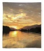 Hood River Golden Sunset Fleece Blanket