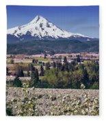 Hood River Orchards Fleece Blanket