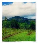 Hood River Oregon - Cloud Burst Over The Vineyard Fleece Blanket