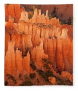 Hoodoos At Sunrise Bryce Canyon National Park Utah Fleece Blanket