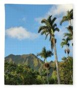 Ho'omaluhia Botanical Garden Fleece Blanket